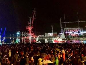Пристанището на Риека се превърна в сцена за стотици артисти за ЕСК (Фотогалерия)