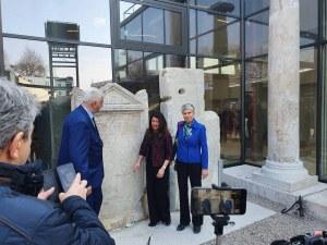 Зико и Херо Мустафа отидоха до Голямата базилика преди откриването през април