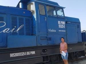 Пловдивчанката Виолета - единствената жена- машинист в България кара локомотив, кръстен на нея