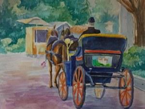 Спасен е последният файтон на Асеновград, талантливата Ирина помогна с две картини