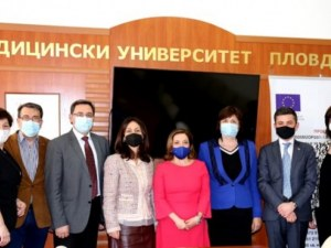 Новият посланик на Италия у нас гостува на Медицинския университет в Пловдив