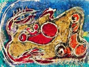 Ваня Софрониева показва магични пана с рисувана коприна в Пловдив